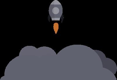 bee rocket icon vector design referral