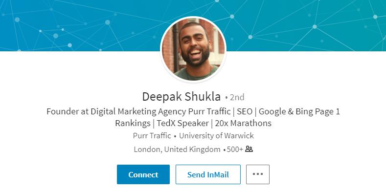Deepak Shukla LinkedIn profile