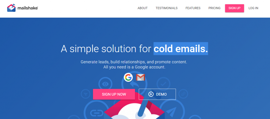 mailshake cold emails outbound home page