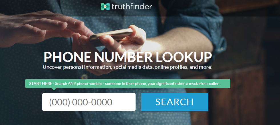 truthfinder - find social media account with phone number