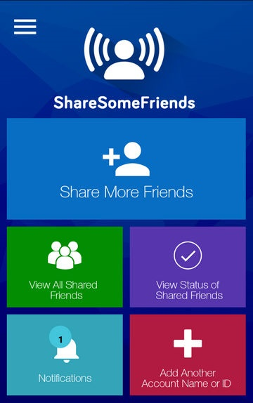 Share Some Friends Dashboard